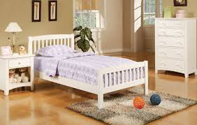 White Wood Twin Bed All American Furniture Buy 4 Less Open