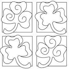 Printable Shamrock Coloring Sheets
