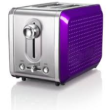 Bella Dots Collection 2 Slice Toaster Purple