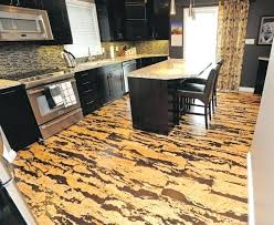 Kitchen Before The Cork Floor Installation Flooring Pros Cons Going