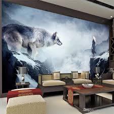Fantasy Ice World Wolf Wallpaper Animal Photo Custom 3D Giant Wall Mural Room Decor Art Bedroom Kids Home Decoration