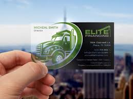 100 Elite Trucking Professional Masculine Company Business Card Design For