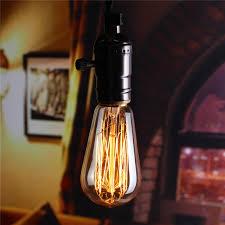 e27 60w st58 edison bulb antique filament l retro vintage light