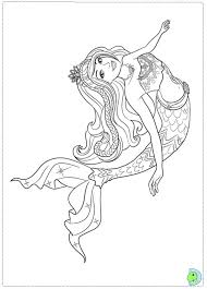 Fancy Barbie Mermaid Coloring Pages 42 In Line Drawings With