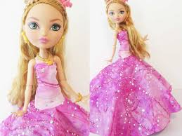 how to make a doll ball gown youtube