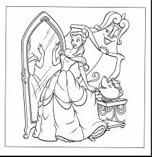 Amazing Disney Princess Belle Coloring Pages With Free And
