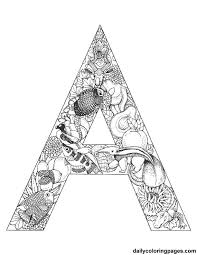 Coloring Pages Letter A
