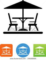 Patio Furniture Icon 258289595