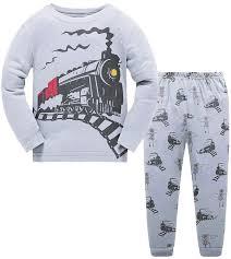 Toddler Boys Pajamas Fire Truck 100/% Cotton Kids Train 2 Piece Pjs ...