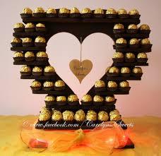 Ferrero Rocher Christmas Tree Stand by Small Ferrero Rocher Heart Cupcake Display
