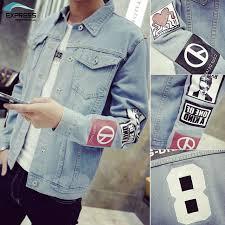 2017 Mens Denim Jacket High Quality Fashion Jeans Jackets Slim Fit Casual Streetwear Vintage Jean