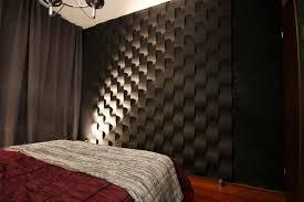 3d wandpaneele aus gips im schlafzimmer bett wandv
