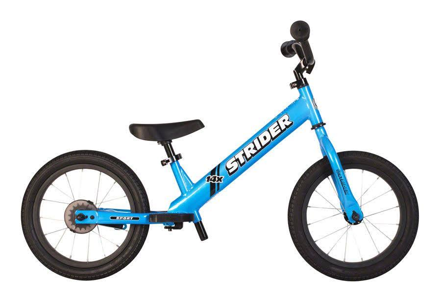 Strider 14x Sport Balance Bike - Blue