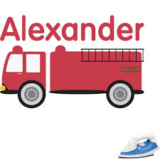 Firetruck Graphic Iron On Transfer - Up To 6