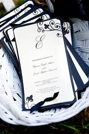 The Black And White Wedding Program