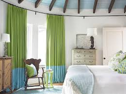 Designs IdeasBedroom Decor With White Bed And Unique Cabinet Also Green Curtains Bedroom