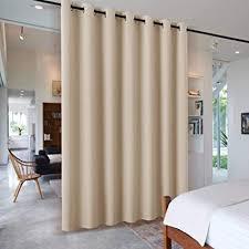 pony raumteiler vorhänge wohnzimmer raumtrenner vorhang für hotel klinik umkleideraum schiebegardinen verdunkelung 1 stück h 210 x b 254 cm