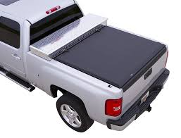 Trifecta Bed Cover by Tonneau Cover With Toolbox Auto Truck Depot