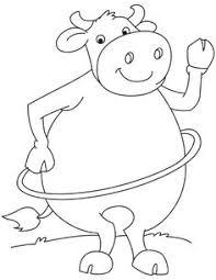Hula Hoop Buffalo Coloring Page