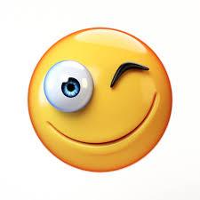 Winking Emoji Isolated On White Background Smiling Face Emoticon 3d RenderingWinking