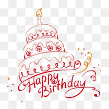 Birthday Cake Birthday Cake Line Drawing PNG and Vector
