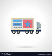Advertisement On Trucks Flat Color Icon Royalty Free Vector