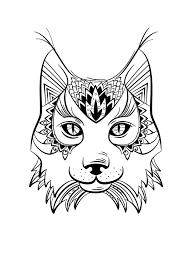 Coloriage Animaux Lynx MANDALA Pinterest Coloriage Coloriage