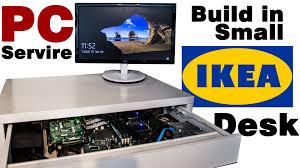 Diy Floating Desk Ikea by Diy Pc Server Build In A Small Ikea Desk Youtube