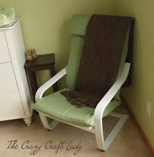 Poang Chair Cover Diy by Nursery Ikea Chair Recover The Crazy Craft Lady