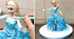 How To Make a Frozen ELSA Disney PRINCESS Cake Torta Frozen