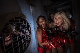 Busch Gardens Halloween by Buccaneers Cheerleaders Team Faces Howl O Scream 2013 With The 13