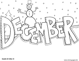 December Christmas Coloring Pages Print Download