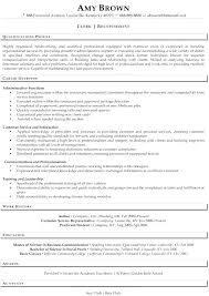 Good Resume Examples Example Of A Great An Receptionist