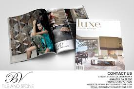 check out our ad in luxe interiors design magazine bv tile and