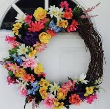 Spring Wreath Springtime Colorful Bright Floral Flowers