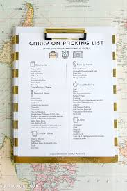 Tips For Surviving Long Airline Flights Along With A Free Printable Airplane Carry On Packing