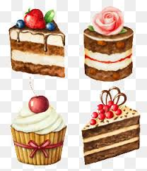 Watercolor cake illustration Cartoon Cake Cherry Cake Cake Posters PNG Image