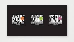 Visual Identity And Packaging Design For Grassroots Granola An All Organic Locally Sourced Ingredients Energy Bars Proudly Made Distributed