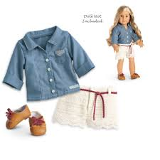For American Girl Doll Clothes Handmade Blue Style Skirt For 18