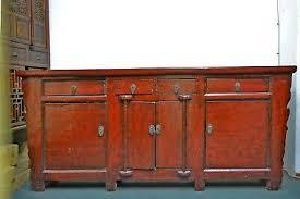 kommode sideboard wohnzimmer küchen rot diele massivholz