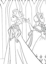 Coloring Pages Frozen Elsa Games Disney Princess And Anna Large Size