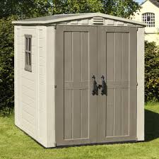 Keter Woodland High Storage Shed by 6x6 Factor Apex Plastic Shed Departments Diy At B U0026q