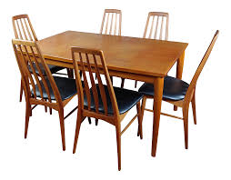 Sophisticated Danish Mid-Century Teak Dining Table With 6 Chairs By ... Danish Mondern Johannes Norgaard Teak Ding Chairs With Bold Tables And Singapore Sets Originals Table 4 Uldum Feb 17 2019 1960s 6 By Greaves Thomas Mcm Teak Table Niels Moller Chairs Etsy Mid Century By G Plan Round Ding Real 8 Seater Jamaica Set Temple Webster Nisha Fniture Sheesham Wooden Balcony Vintage Of 244003 Vidaxl Nine Piece Massive Chair On Retro