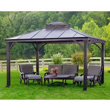 Home Depot Wood Patio Cover Kits by Gazebo Enjoy Your Great Outdoors With Gazebo Home Depot