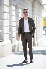 Wearing Suit With T Shirt