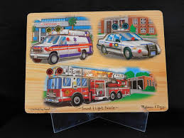 100 Melissa And Doug Fire Truck Puzzle And Sound And Light Peg An Elegant Yard Sale