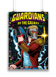 Official Guardians Of The Galaxy Classic Star Lord Cover Poster By MarvelTM