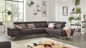 interliving sofa serie 4252 eckkombination anthrazitfarbener stoffbezug büffel metallfüße stellfläche ca 275 x 2