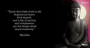 Lord Buddha Samadhi And Quote With Dark Background Wallpaper