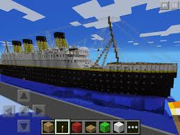 Minecraft Titanic Sinking Map by I Have Built Minecraft Pocket Editions Largest Titanic Mcpe